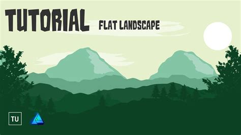 flat landscape illustrator tutorial for beginners youtube flat landscape affinity designer tutorial for beginners