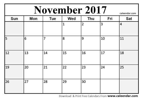 Calendar Template November 2017 Excel November 2017 Calendar Pdf Calendar Template Excel