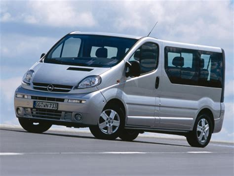 opel vivaro 9 seater car hire