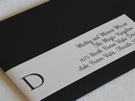 custom printed envelope wrap around labels wedding invitations and the hill country