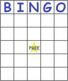 Bingo Card Template Free by Blue Bingo Cards Printfreegames