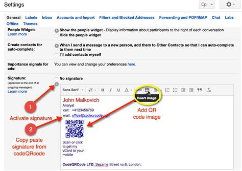 How To Add Business Card In Gmail