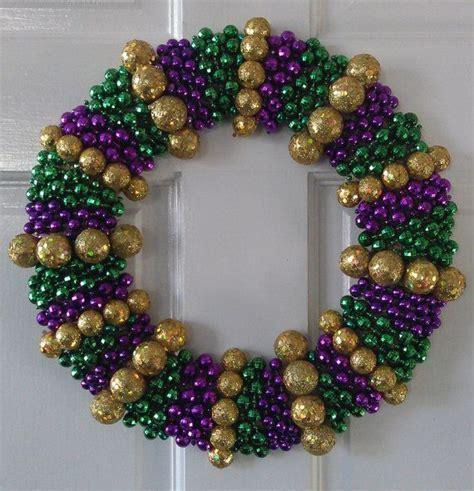 mardi gras bead wreath mardi gras wreath diy crafts