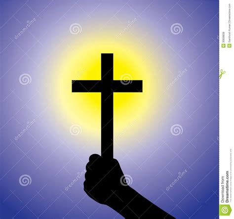 faithful timer person showing faith in lord by holding holy cross