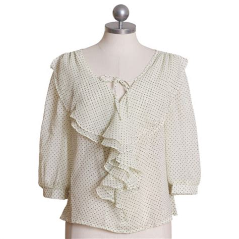 Sweet Tops From Ruche by Spotted In Style Polka Dot Ruffle Blouse 10 Sweet