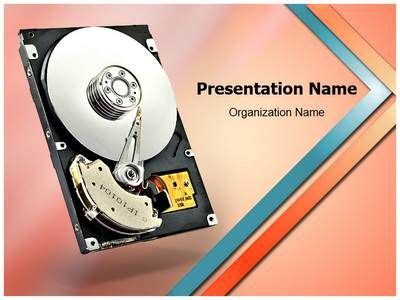 drive powerpoint templates texts disk drive and computers on