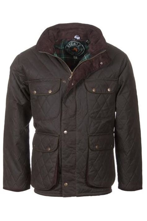 Mens Quilted Wax Jacket rydale mens quilted waxed jacket