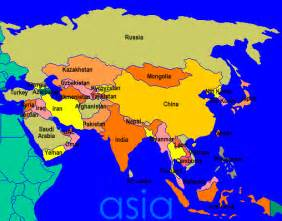 The Map Of Asia by The Seven Continents The Seven Continents Profiles Asia