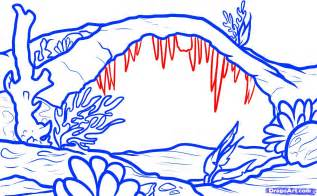 Sea Floor Drawing by How To Draw A Seascape Seascape Step By Step
