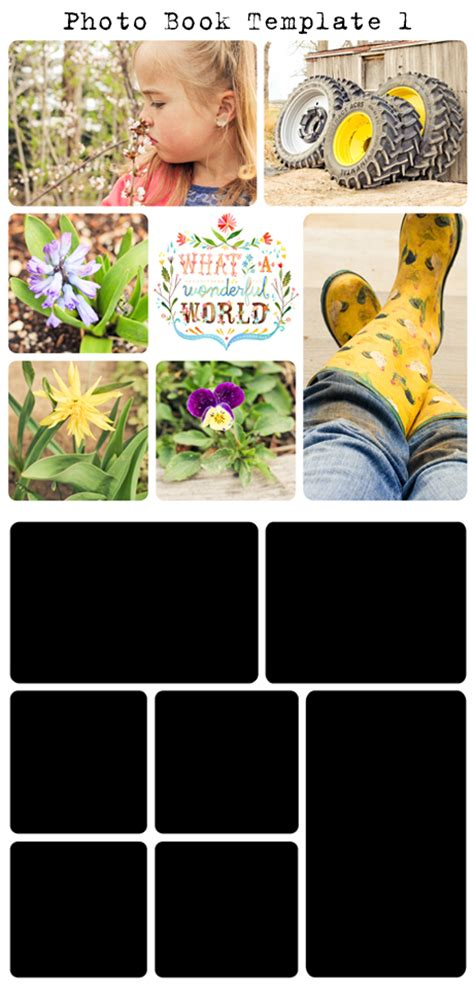 Free Project Life Digital Photo Book Templates My Crazy Life As A Farmers Wife Free Photobook Template