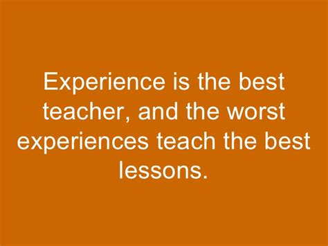 experience is the best