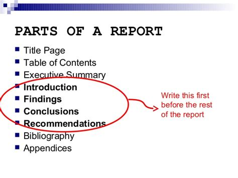 How To Write A Background Report by Report Writing Introduction Section