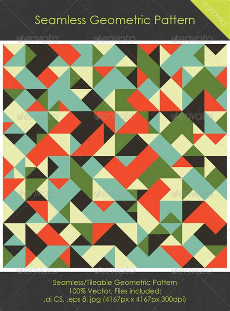 geometric pattern games seamless tileable geometric pattern graphicriver