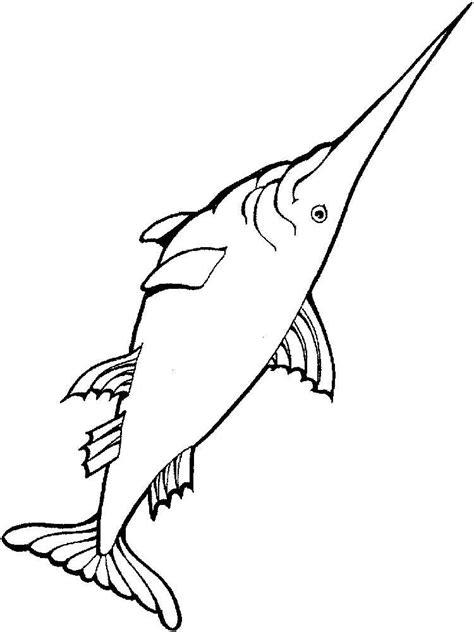 swordfish coloring pages download and print swordfish