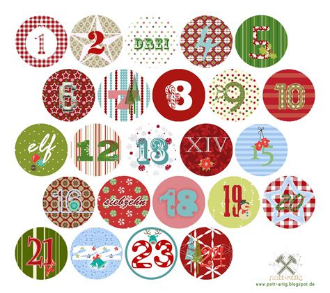 printable numbers 1 24 pott artig kreativblog adventskalender zahlen freebie