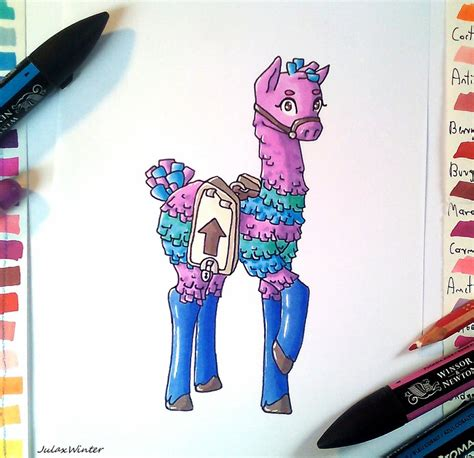 fortnite pinata lama pinata from fortnite by zielonajula on deviantart