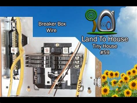 tiny house 59 install breaker box wire