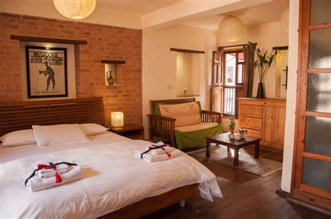 queen bed comfortable working space patan nepal