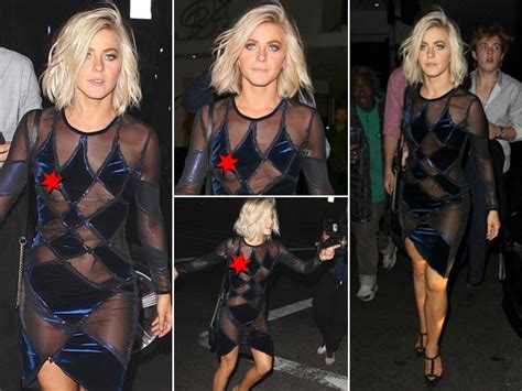 julianne hough wardrobe malfunction dwts julianne hough suffers major nip slip at dwts party