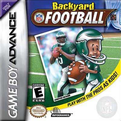 backyard football ps3 backyard football nintendo game boy advance