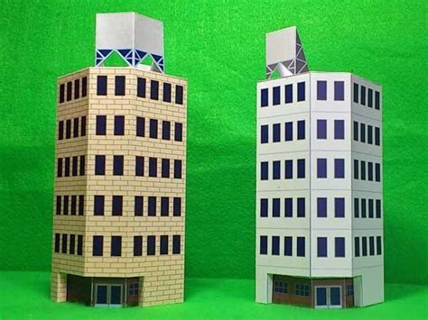 Building Paper Model Papercraftsquare Free Papercraft Download Free Building Templates