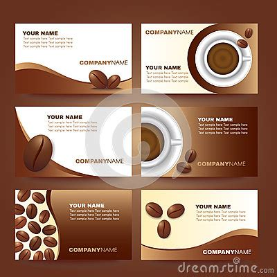 coffee shop card design coffee business card template vector set design stock