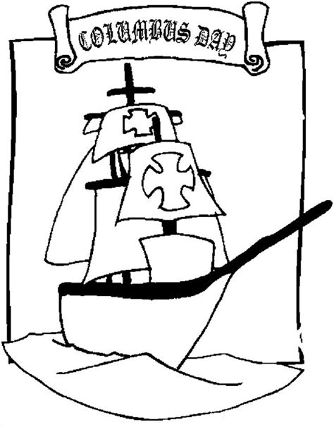 Columbus Day Coloring Pages 6 Coloring Kids Imagenes De Columbus Day For Coloring