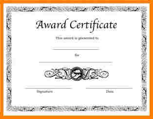 award certificate template 25 word 28 images 6 free