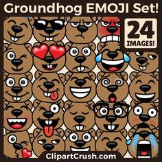groundhog day expression emoji clipart emotion clipart sugar skull clipart