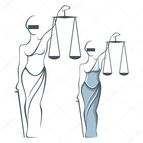 imagenes en blanco y negro de justicia ilustra 231 227 o em vetor de ricardo deusa da justi 231 a em estilo