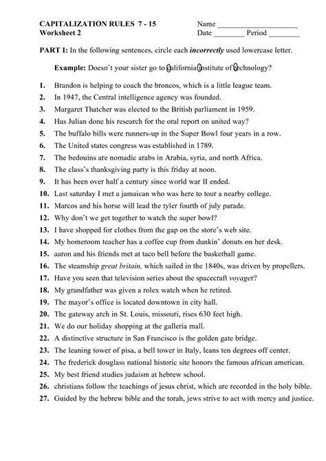 6th grade punctuation practice worksheets practicing