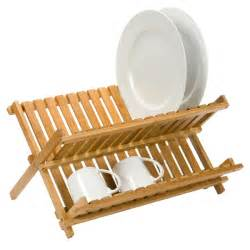 Dish Drying Racks by Dish Rack Folding Bamboo Dish Rack The Container Store