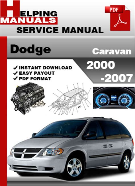 car owners manuals free downloads 1998 dodge caravan security system dodge caravan 2000 2007 service repair manual download download m