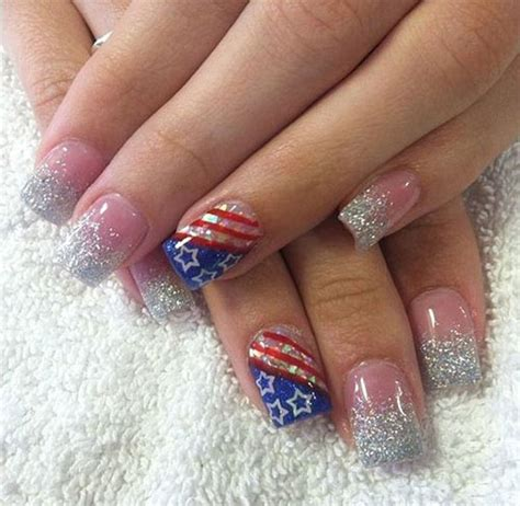 red acrylic 4th of july nils 15 4th of july acrylic nail art designs 2016 fourth of