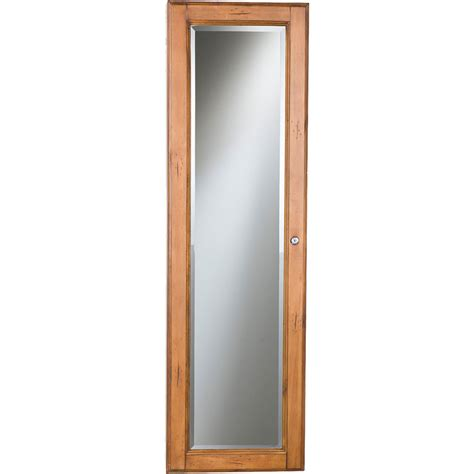 jewelry armoire oak finish sei wall mount jewelry armoire with oak finish jewelry
