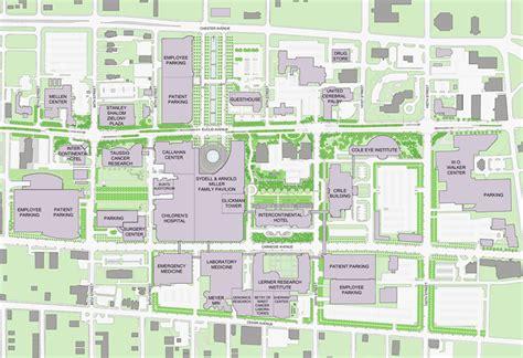 maps clinic cleveland clinic master plan pwp landscape architecture