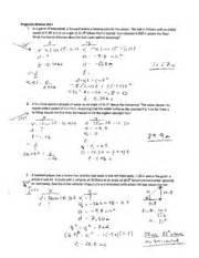 projectile motion worksheet 1 solution