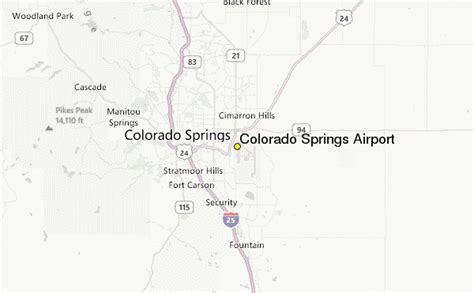 colorado airports map colorado springs airport weather station record