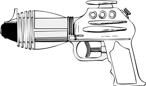 toy gun coloring page laser tag gun clipart 35