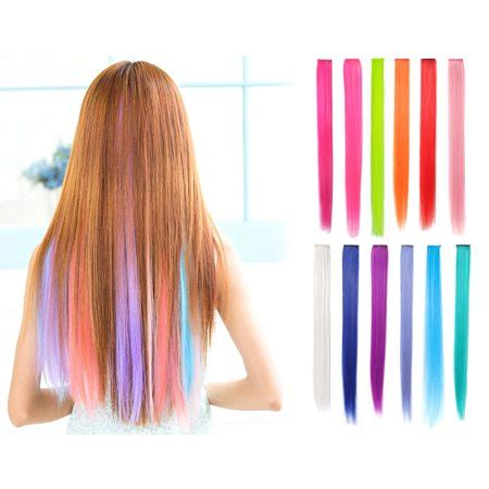 clip in colored hair extensions onedor 23 inch colored highlight clip on in