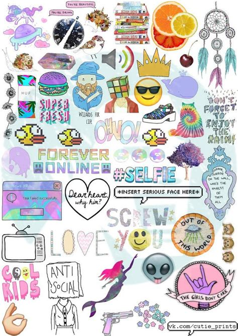 printable hipster stickers set 44 tumblr stickers stickers set of stickers decals