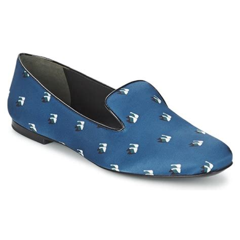 Flat Shoes 193 kenzo 2sl110 blue marine free delivery with spartoo uk