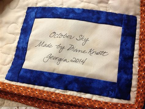 Handmade Labels For Quilts - signed sealed delivered a quilt label that lasts