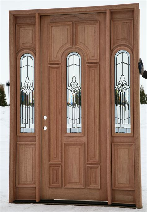 Sidelights For Front Doors Wood Front Doors With Arched Sidelights Decofurnish