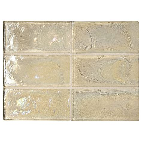 recycled glass backsplash tile trueglass tile 2 quot x 4 quot recycled glass pearl