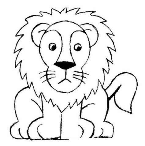 imagenes para dibujar leones dibujo de leon facil de dibujar para pintar y colorear