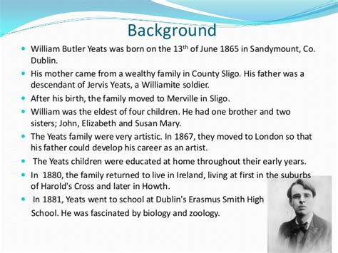 wb yeats sle essay william butler yeats the second coming literary analysis