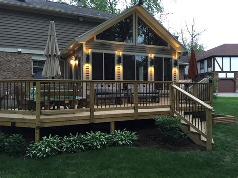 Sunroom On A Deck by Porches Dayton Cincinnati Deck Porch And Outdoor