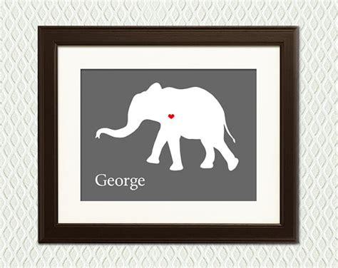 personalized nursery wall decor personalized elephant nursery wall decor by myplaceintheworld