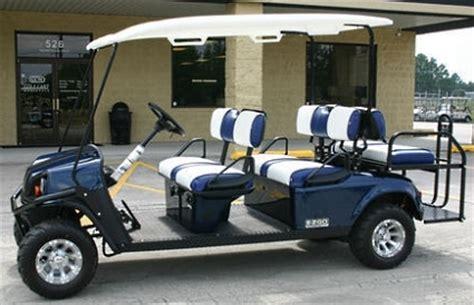Ez Go Patriot Blue Stretch Limo 6 Passenger Gas Golf Cart